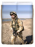 A British Army Soldier On Patrol Duvet Cover