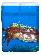 A Broadclub Cuttlefish, Kimbe Bay Duvet Cover