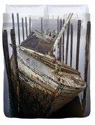 A Broken Boat Duvet Cover