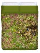 A Bullfrog Rana Catesbeiana Hiding Duvet Cover