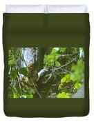 A Busy Woodpecker  Duvet Cover