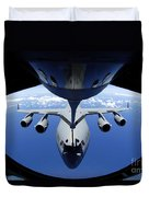 A C-17 Globemaster IIi Receives Fuel Duvet Cover by Stocktrek Images