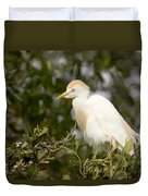 A Cattle Egret Bubulcus Ibis Duvet Cover
