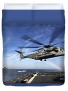 A Ch-53e Super Stallion Prepares Duvet Cover