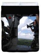 A Cinematographer Videotapes A Soldier Duvet Cover