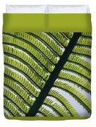 A Close View Of A Fern Duvet Cover