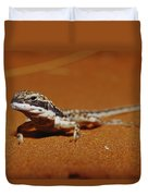 A Close View Of A Military Sand Dragon Duvet Cover