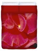 A Close View Of A Rose Duvet Cover