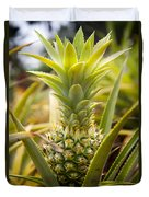 A Close View Of A Tainung Pineapple Duvet Cover