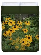 A Close View Of Black-eyed Susans Duvet Cover