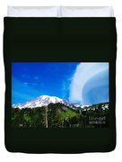 A Cloud Near Mt Rainer  Duvet Cover