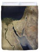 A Cloud Of Tan Dust From Saudi Arabia Duvet Cover