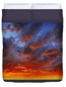A Cloudy Sunset Duvet Cover