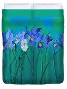 A Clutch Of Irises Duvet Cover