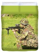 A Coldstream Guard Training In Scotland Duvet Cover