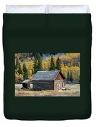 A Colorado Cabin Duvet Cover