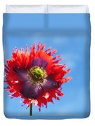 A Colorful Flower With Red And Purple Duvet Cover