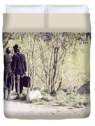 A Couple In The Woods Duvet Cover