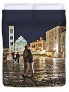 A Croatian Night Duvet Cover