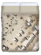 A Crowded Camel Market In Nguigmi Duvet Cover