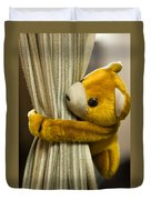 A Curtain With A Cute Stuffed Toy Duvet Cover