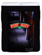 A Dark And Lonely Post Alley - Seattle  Duvet Cover