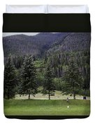 A Day At The Park In Vail Duvet Cover