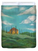 A Day In Tuscany Duvet Cover by John Keaton