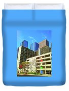 A Different Perspective On Downtown Los Angeles I Duvet Cover