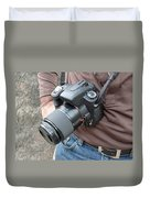 A Digital Camera Is The Chief Tool Of This Photographer Duvet Cover