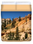 A Dragon Over Water Canyon Duvet Cover