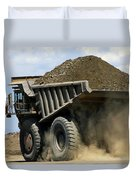 A Dump Truck Carrying Gravel Kicks Duvet Cover