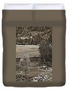 A Far Valley Sepia Duvet Cover