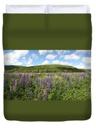 A Field Of Lupines Duvet Cover