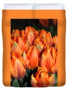 A Field Of Orange Tulips Duvet Cover
