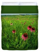 A Field Of Purple Coneflowers Duvet Cover