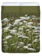 A Field Of Queen Annes Lace Duvet Cover