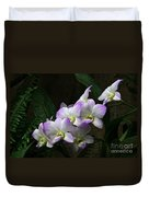 A Flight Of Orchids Duvet Cover