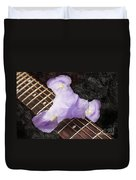A Flower Music And Romance Duvet Cover