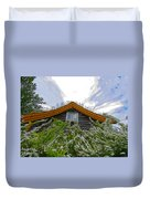 A Flowery House In Norway Duvet Cover
