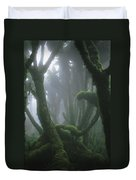 A Fog-enshrouded Rain Forest In Rwandas Duvet Cover