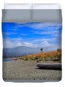 A Foggy Morning At Whiffin Spit Duvet Cover