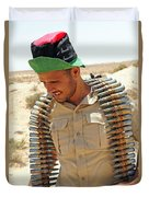 A Free Libyan Army Soldier With An Duvet Cover
