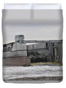 A French Landing Craft Comes Ashore Duvet Cover