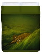 A Freshwater Stingray Swims In A Meadow Duvet Cover