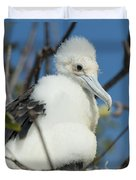 A Frigatebird Sitting In A Nest Duvet Cover