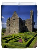 A Garden In Front Of Tully Castle Near Duvet Cover