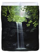A Gentle Woodland Waterfall With Maple Duvet Cover