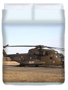 A German Ch-53gs Helicopter At Stendal Duvet Cover