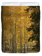 A Golden Trail Duvet Cover
